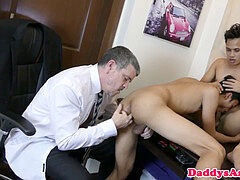 Mature dilf barebacking pinoys in office trio