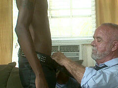 Sexy Black Boy Cayce Nash romps furry daddy Jake Shores