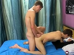 Mason Stone analpounds Ryan Sharp after they blow each other