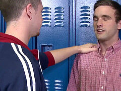 Cock Virgins facial cumshot In school Locker room