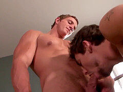 youthful sport jock milks cum after doggystyle