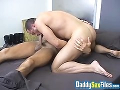 Rough gay anal with two of big strong males