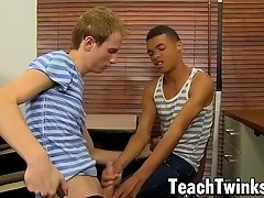 Interracial twinks hook up and then they have some anal fun