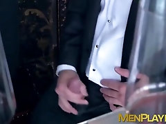 Elegant men bang each other in a very nice hotel
