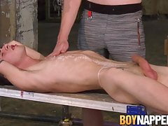 Submissive twink punished by master loves sucking his cock