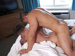 Muscle guys Jacob and Scottie in bed do what comes all-natural