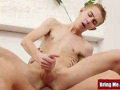 BRINGMEABOY Twink Dominik Black Fucks Stepdad After Shower