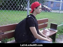 Amateur Virgin Latino Boy In Red Baseball Cap Paid To Fuck