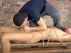 Tyler uncut rod gets fellatio and raunchy stroking from Deacon