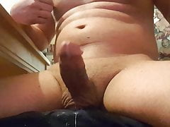 Swinging my cock, handsfree big cumshots, nipple play